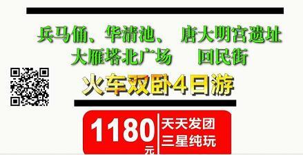 西安兵马俑、华清池、唐大明宫遗址、大雁塔北广场回民街双卧4日游(A线)